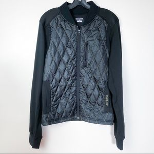DoTERRA Quilted Gold Threaded Bomber Jacket
